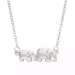 Silver Elephants Necklace